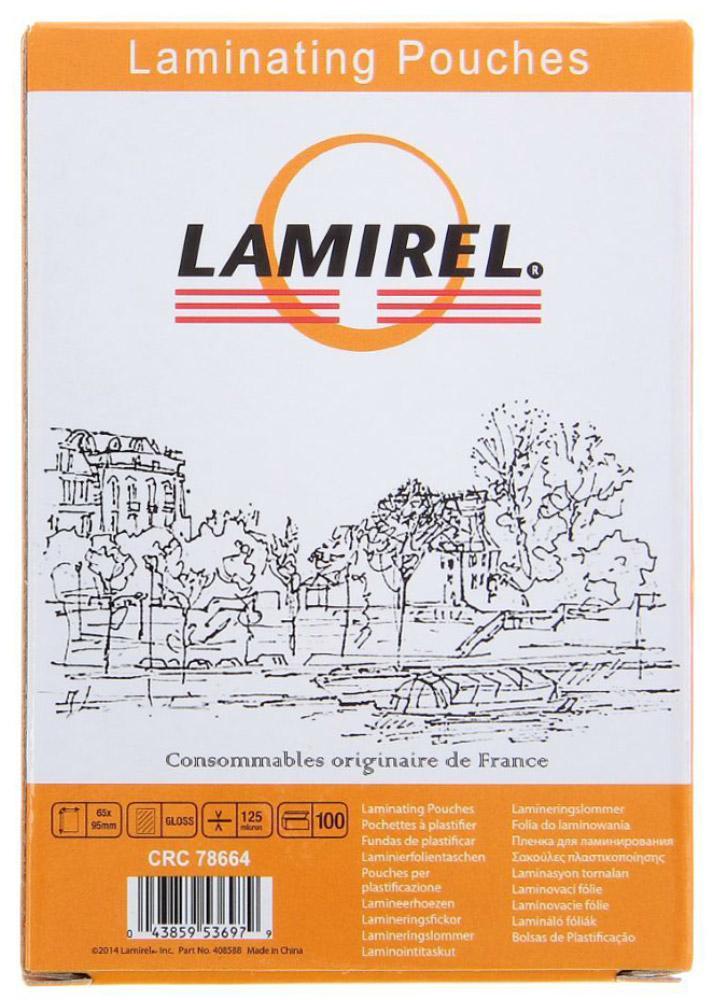 Lamirel LA-78664 65 x 95 мм пленка для ламинирования, 125 мкм (100 шт)LA-78664Пленка Lamirel LA-78664 предназначена для защиты документов от нежелательных внешних воздействий. Она обеспечивает улучшенную защиту от грязи, пыли, влаги. Документ дополнительно получает жесткость на изгиб и защиту от механического воздействия и потертостей. Идеально подходит для интенсивной эксплуатации.Глянцевое покрытие улучшает внешний вид документа: краски становятся глубже, ярче и контрастнее. Пленка для ламинирования Lamirel поставляется по 100 шт. в фирменной цветной упаковке.