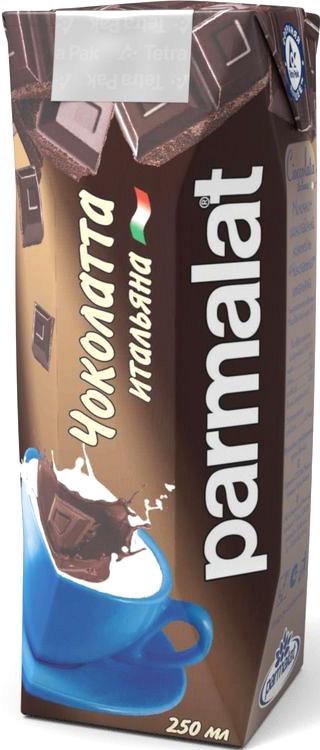 Parmalat Чоколатта ультрапастеризованный коктейль молочно-шоколадный 1,9%, 0,25 л коктейль молочный с кофе parmalat пармалат капуччино 1 5
