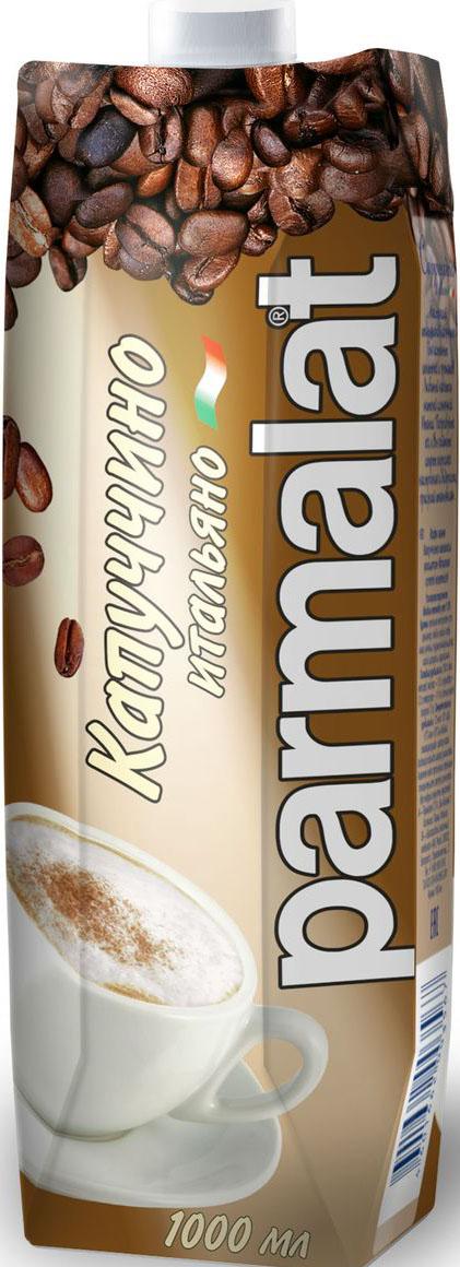 Parmalat Капучино молочно-кофейный напиток, 1 л щербет тимоша молочно ореховый 250г