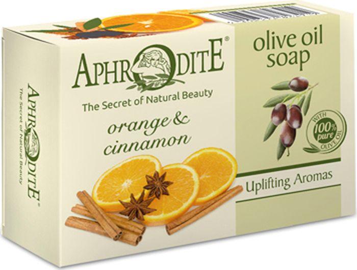 Мыло оливковое с апельсином и корицей Aphrodite, 100 грZ-79Освежающее мыло на основе критского оливкового масла с манящим цитрусовым ароматом, поднимет настроение на весь день и окутает чудесной аурой во время сна. Прекрасное сочетание оливкового масла, корицы и масла апельсина делает мыло ультраувлажняющим, расслабляющим и очищающим средством. Мягко успокаивает, снимает раздражение чувствительной и сухой кожи тела и лица.100% натуральный продукт. Не содержит консервантов, животных жиров и искусственных красителей.