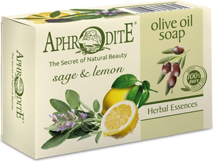 Мыло оливковое с шалфеем и лимоном Aphrodite, 100 гр