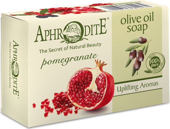Мыло оливковое с гранатом Aphrodite, 100 гр