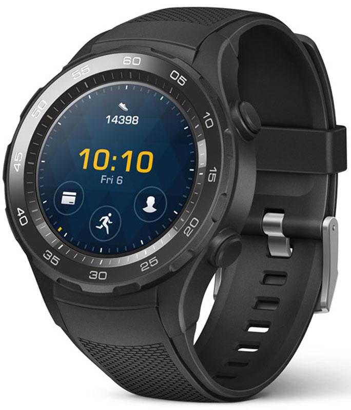 Huawei Watch 2 Sport LEO-BX9, Black умные часы (55021794)55021794Умные часы Huawei Watch 2 Sport подходят для людей, ведущих активный образ жизни и следящих за своим здоровьем. Они снабжены большим количеством биометрических датчиков, отслеживающих ключевые показатели активности – в том числе высокоточным пульсометром, работающим даже во время отдыха. Кроме того, их конструкция предполагает использование комбинированной спутниковой антенны GPS/ГЛОНАСС, с помощью которой можно измерять пройденное расстояние и скорость при беге, а также прокладывать маршруты движения.Платформа Android Wear 2.0 предоставляет доступ ко множеству спортивных, мультимедийных и информационных приложений, большая часть которых может работать без подключения к смартфону. Ёмкости батареи гаджета хватает на 2 дня непрерывного использования с активными пробежками и использованием других функций.Для начала тренировки не потребуется длительная подготовка. Достаточно нажать одну кнопку, чтобы запустить фитнес-приложение и активировать спутниковую антенну. По окончании занятия пользователь получит подробный отчёт и рекомендации по составлению индивидуального плана упражнений.Двойной микрофон распознаёт каждое слово пользователя, а система Google Now предоставляет всю необходимую информацию по запросу. Часы поддерживают голосовую активацию различных приложений, поиск музыки и управление воспроизведением.Поддержка NFCПодключение к смартфону/планшету через BluetoothОперативная память: 768 МБ