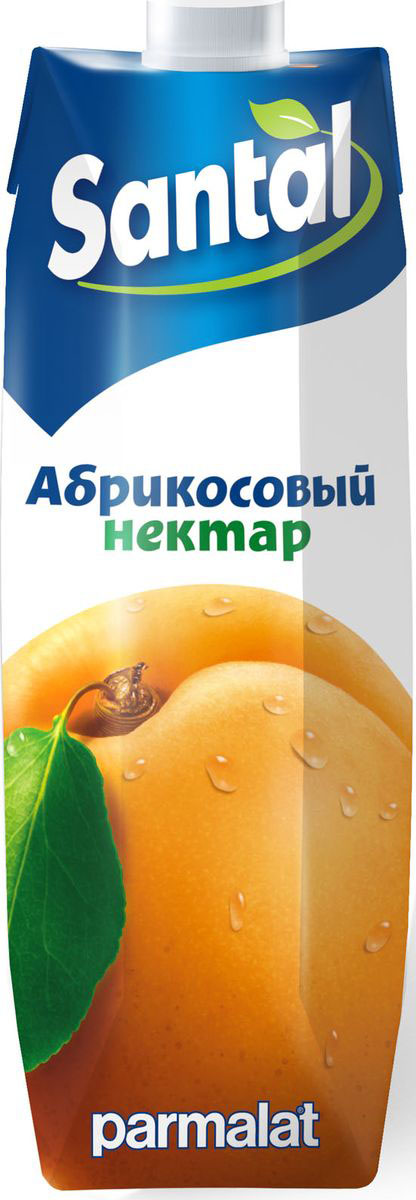 Santal Нектар Абрикосовый, 1 л любимый яблоко персик нектарин нектар с мякотью 0 2 л