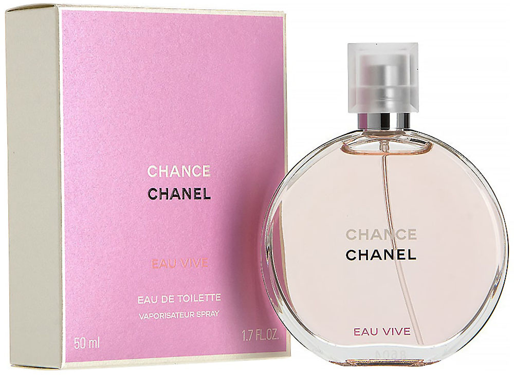 Chanel Chance Eau Vive Туалетная вода, 50 мл962341Chance Eau Vive – игристый женский цветочный аромат, пополнивший в 2015 году парфюмерную коллекцию «Chance» знаменитого французского модного дома Chanel. Парфюм является оригинальной разработкой парфюмера Оливье Польжа и заключен в простой и при этом безупречно элегантный округлый флакончик, словно мерцающий изнутри таинственной персиковой глубиной парфюма. Композиция начинает звучать с пикантного освежающего сочетания терпковатого розового грейпфрута и сочного солнечного апельсина. В центре аромата звучит пьянящий, терпковато-медовый запах белоснежного жасмина. А теплая, древесная база дарит хвойно-сливочные ноты белого кедра, которые смешивается с тонким, чуть пудровым запахом бархатистого ириса, влажно-землистым ветивером и нежнейшим белым мускусом, образуя долгий и безупречный по своему звучания ароматический шлейфКраткий гид по парфюмерии: виды, ноты, ароматы, советы по выбору. Статья OZON Гид