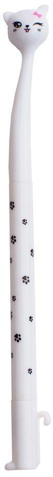 Карамба Ручка шариковая Кошка цвет корпуса белый набор hauser triangle шариковая ручка механический карандаш черный 1287297