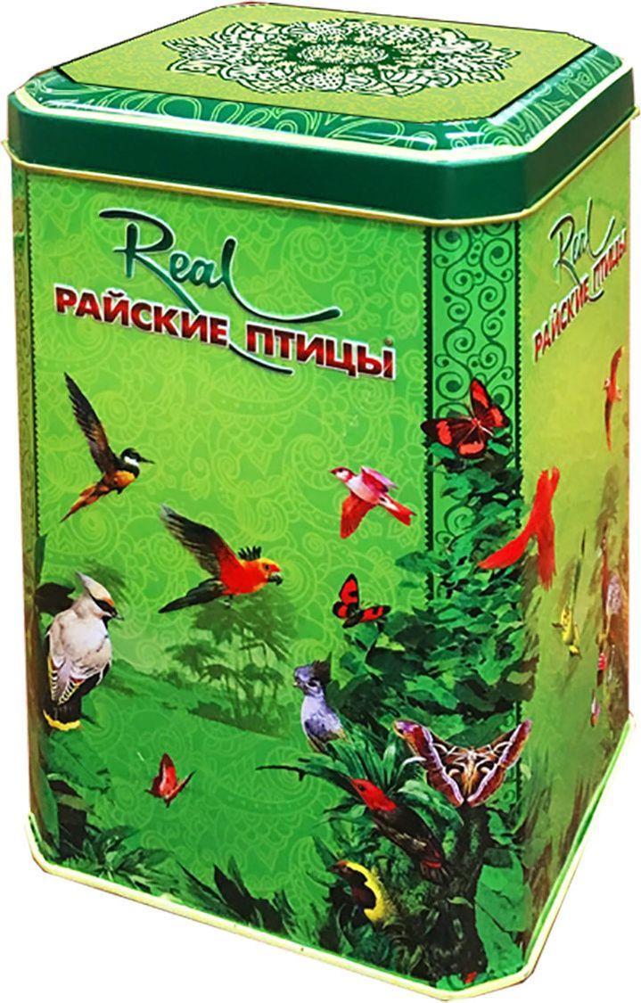 Real Райские птицы листовой зеленый чай Элитный Пеко, 200 г214Элитный зелёный чай самого высокого качества с о.Цейлон в подарочной жестяной банке.