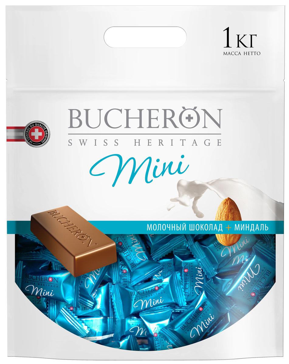 Bucheron Mini молочный шоколад с миндалем, 1 кг волшебница золотой орех шоколад темный с миндалем 190 г
