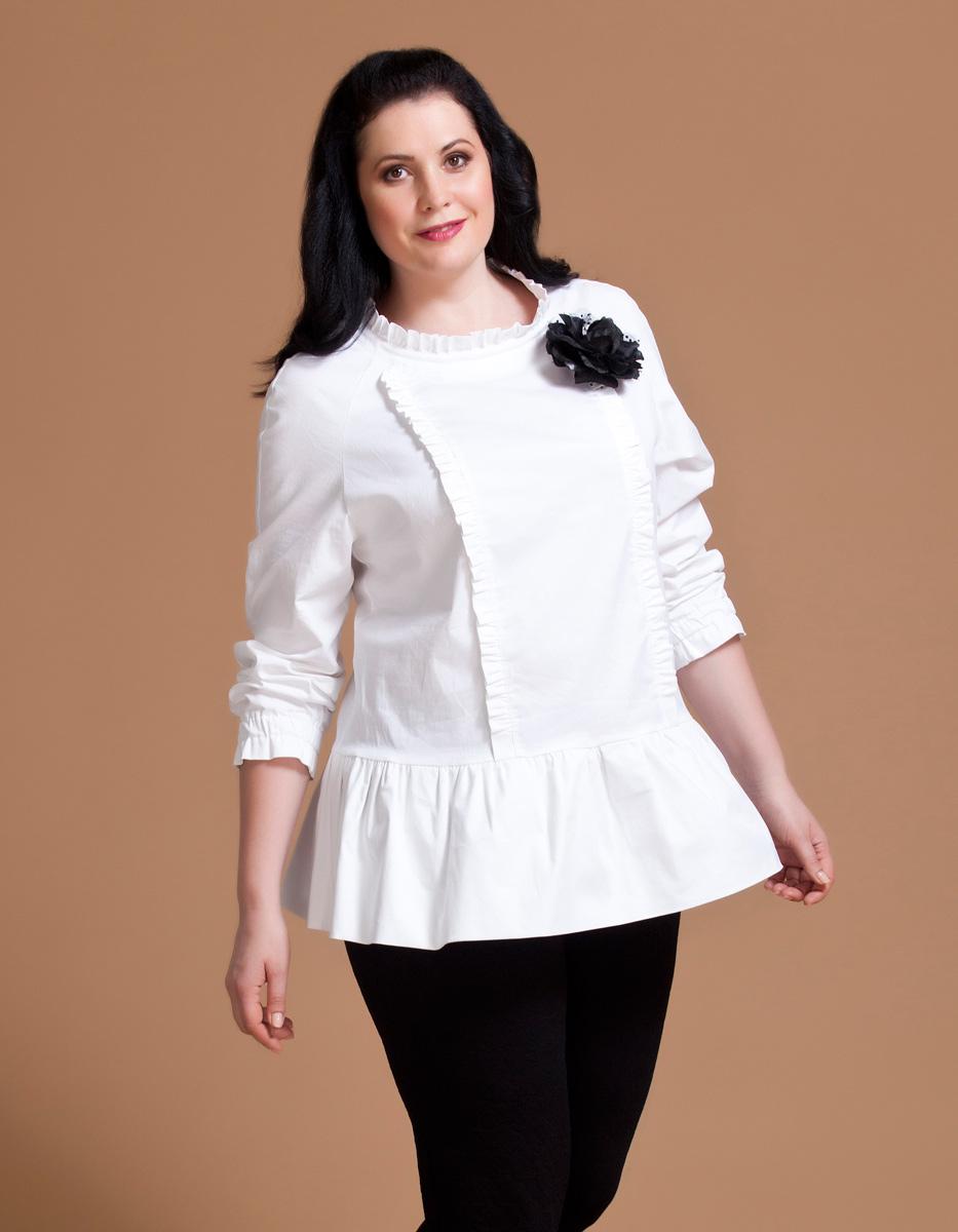 Блузка женская Averi, цвет: белый. 1146. Размер 60 (64) блузка женская averi цвет оранжевый 1440 размер 64 66