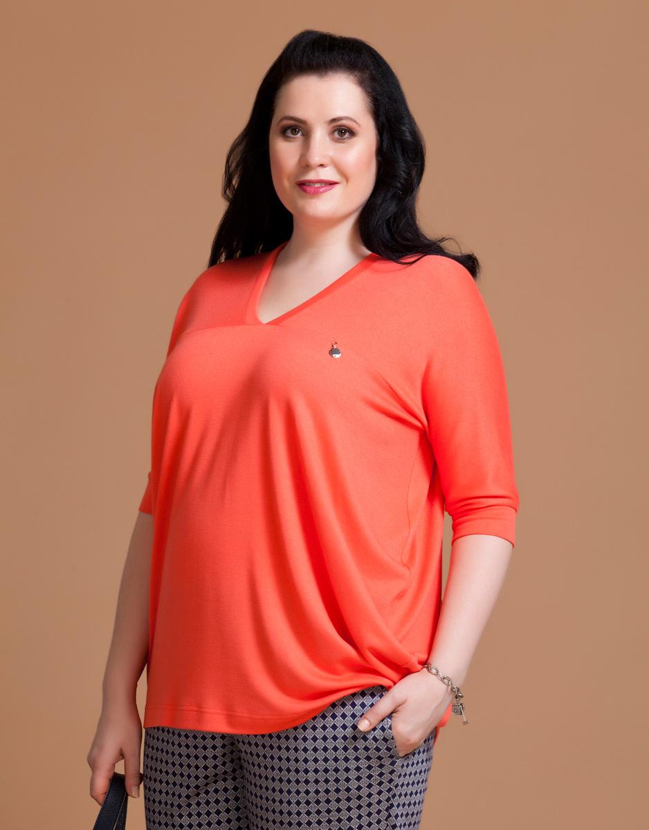 Блузка женская Averi, цвет: коралловый. 1133. Размер 60 (64) блузка женская averi цвет оранжевый 1440 размер 64 66