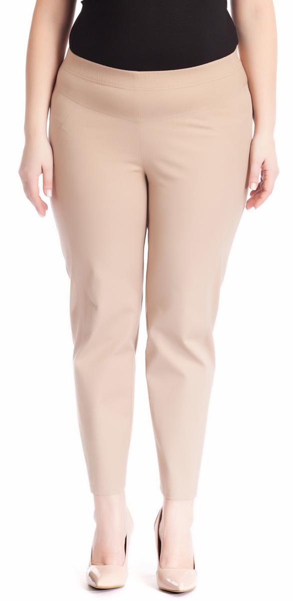 Брюки женские Averi, цвет: бежевый. 1220. Размер 52 (56)1220Зауженные укороченные брюки Averi выполнены из хлопка с добавлением эластана, не имеют застежки. Узкие вертикальные рельефы на передних половинках брюк зрительно стройнят ноги. Подрезные кокетки спереди и сзади, как и рельефы, подчеркнуты декоративной двойной отстрочкой. Цельнокроеный пояс с эластичной тесьмой-резинкой обеспечивает легкий утягивающий эффект. Базовая модель и насыщенный цвет позволяют составить множество комбинаций на любой случай.