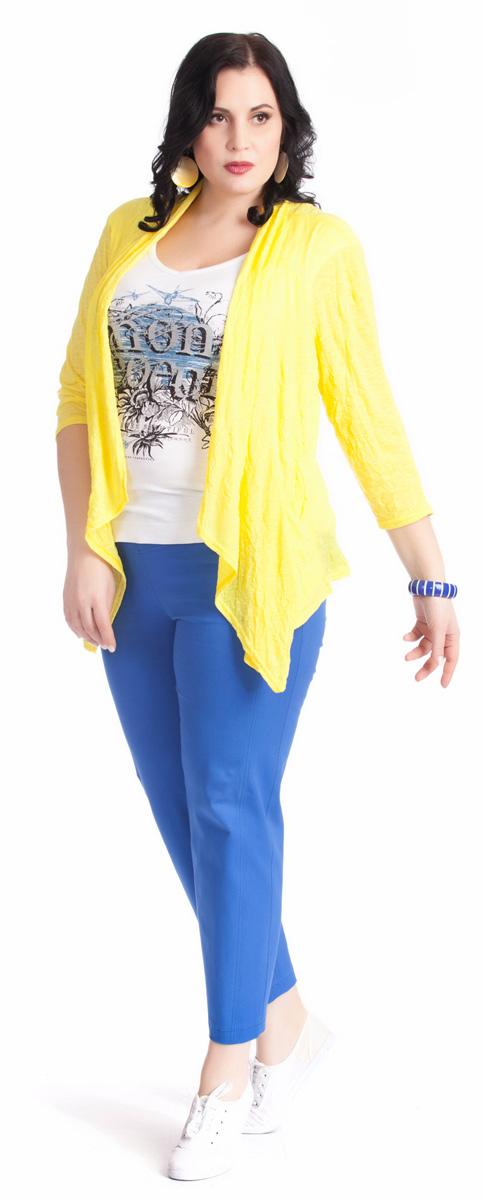 Брюки женские Averi, цвет: синий. 1220. Размер 52 (56)1220Зауженные укороченные брюки Averi выполнены из хлопка с добавлением эластана, не имеют застежки. Узкие вертикальные рельефы на передних половинках брюк зрительно стройнят ноги. Подрезные кокетки спереди и сзади, как и рельефы, подчеркнуты декоративной двойной отстрочкой. Цельнокроеный пояс с эластичной тесьмой-резинкой обеспечивает легкий утягивающий эффект. Базовая модель и насыщенный цвет позволяют составить множество комбинаций на любой случай.