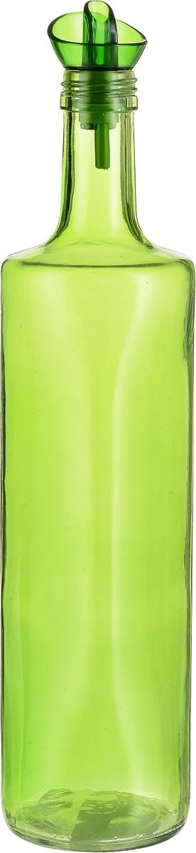"""Емкость для масла """"Herevin"""" выполнена из качественного  прочного цветного стекла. Она легка в использовании, стоит  только перевернуть ее, и вы с легкостью сможете добавить  оливковое или подсолнечное масло, уксус или соус. Емкость  оснащена пластиковой пробкой с дозатором. Благодаря этому  внутри сохраняется герметичность, и масло дольше остается  свежим.  Оригинальная емкость для масла и уксуса будет отлично  смотреться на вашей кухне. Диаметр горлышка: 3 см. Диаметр основания: 7,5 см. Высота емкости: 33 см."""