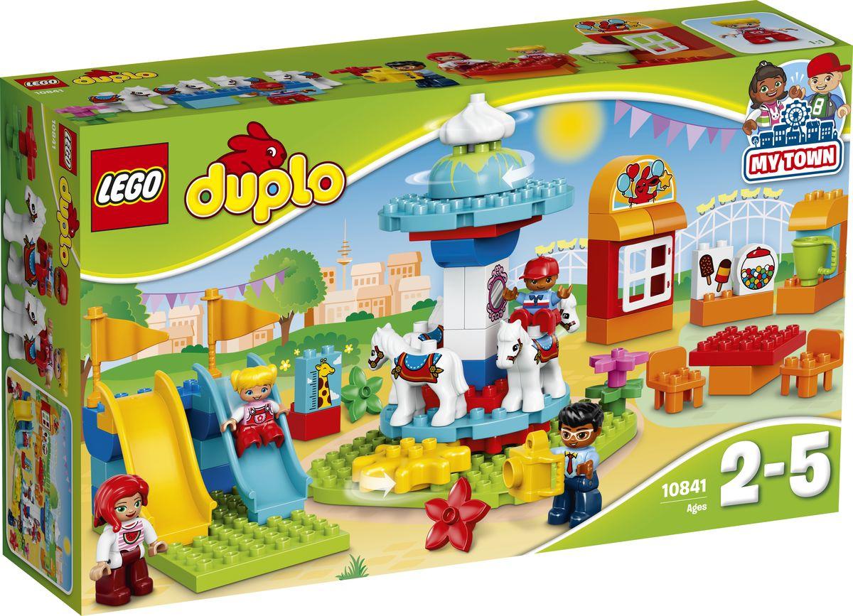 LEGO DUPLO My Town Конструктор Семейный парк аттракционов 10841 конструктор lego duplo town большой парк аттракционов 10840