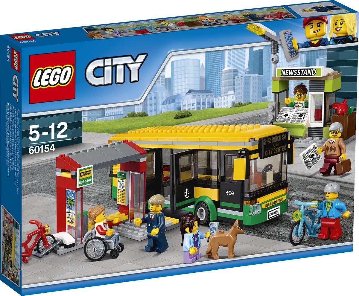 LEGO City Town Конструктор Автобусная остановка 60154 велосипед khs town