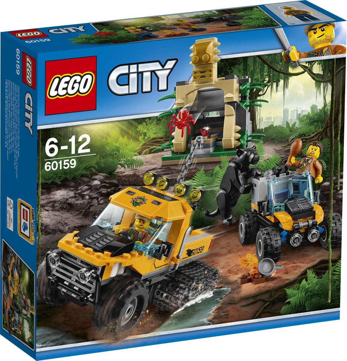 LEGO City Jungle Explorer Конструктор Миссия Исследование джунглей 60159 конструкторы lego lego city jungle explorer база исследователей джунглей 60161