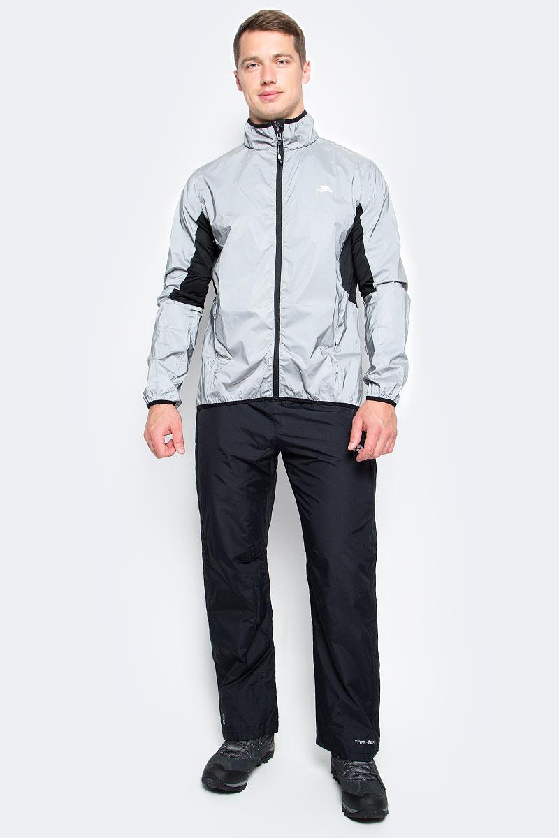 Ветровка для велоспорта мужская Trespass Zig, цвет: серый. MAJKRAL20007. Размер S (48)MAJKRAL20007Великолепная мужская куртка для занятия велоспортом Trespass Zig выполнена из полиэстера. Модель с воротником-стойкой спереди застегивается на молнию и дополнена прорезными карманами на молнии. Полностью светоотражающая.