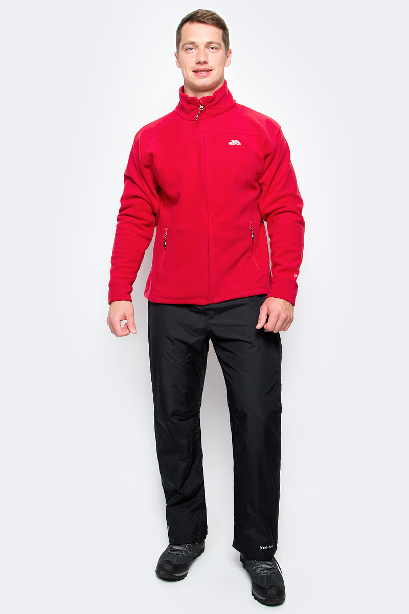 Брюки спортивные мужские Trespass Purnell, цвет: черный. MABTRAK20003. Размер L (52)MABTRAK20003Великолепные плотные мембранные брюки для занятия туризмом Trespass Purnell выполнены из полиамида. Широкий пояс на эластичной резинке с завязками.
