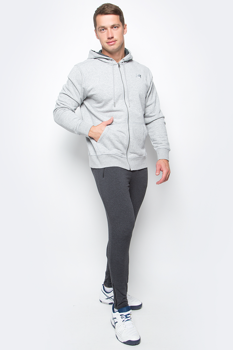Худи мужское New Balance Classic Full Zip Hoody, цвет: серый. MJ63550/AG. Размер XXL (52/54) new original plc fx2n 20gm 2 axis 200khz positioning control module