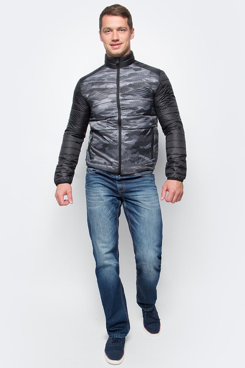 Куртка муж Jack & Jones, цвет: черный. 12123051_Black. Размер S (44)12123051_Black