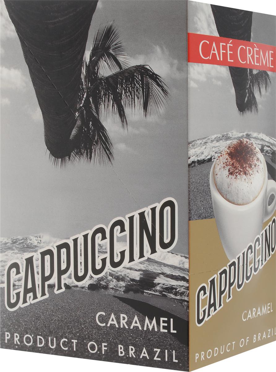 Cafe Creme Caramel кофейный напиток в пакетиках, 10 шт4607141333194Капучино Cafe Creme изготовлен с использованием 100% натурального кофе высшего качества, выращенного в горах Эспирито-Санто на юго-востоке Бразилии. Ароматный кофе с карамельным сиропом и нежной молочной пенкой придает напитку сливочно-карамельный вкус. Приготовлен по оригинальному бразильскому рецепту.Состав: сахар-песок, заменитель сухих сливок,кофе натуральный, ароматизатор.Уважаемые клиенты! Обращаем ваше внимание на то, что упаковка может иметь несколько видов дизайна. Поставка осуществляется в зависимости от наличия на складе.