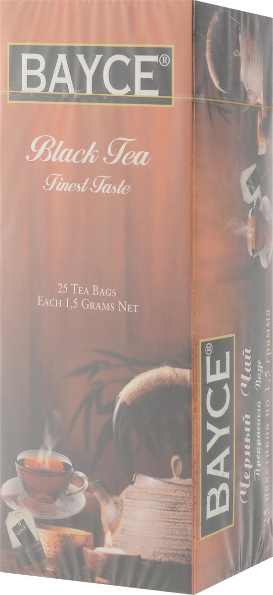 Bayce Файнест черный чай в пакетиках, 25 шт riston файнест цейлон черный чай в пакетиках 100 шт