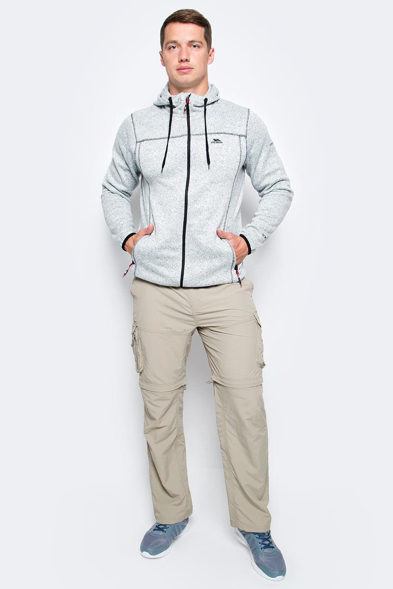 Худи мужское Trespass Odeno, цвет: светло-серый. MAFLFLM10003. Размер M (50)MAFLFLM10003Великолепное женское худи Trespass Odeno выполнено из полиэстера, подкладка - из флиса. Модель с капюшоном, застегивается на молнию, спереди имеются два прорезных кармана на молнии.
