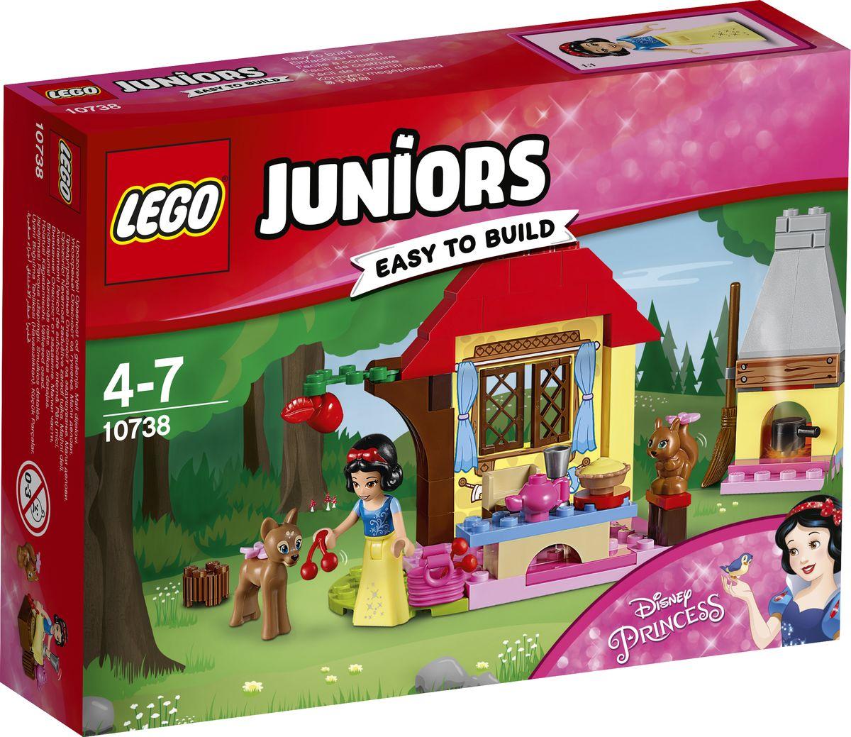 LEGO Juniors Конструктор Лесной домик Белоснежки 10738 конструктор lego juniors ветеринарная клиника мии 10728