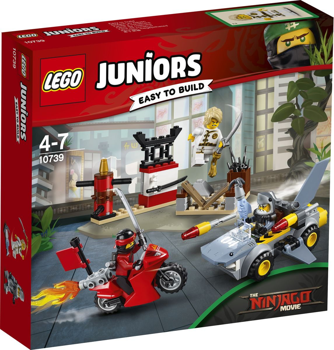 LEGO Juniors Конструктор Нападение акулы 10739 lego juniors конструктор финальная гонка флорида 500 10745