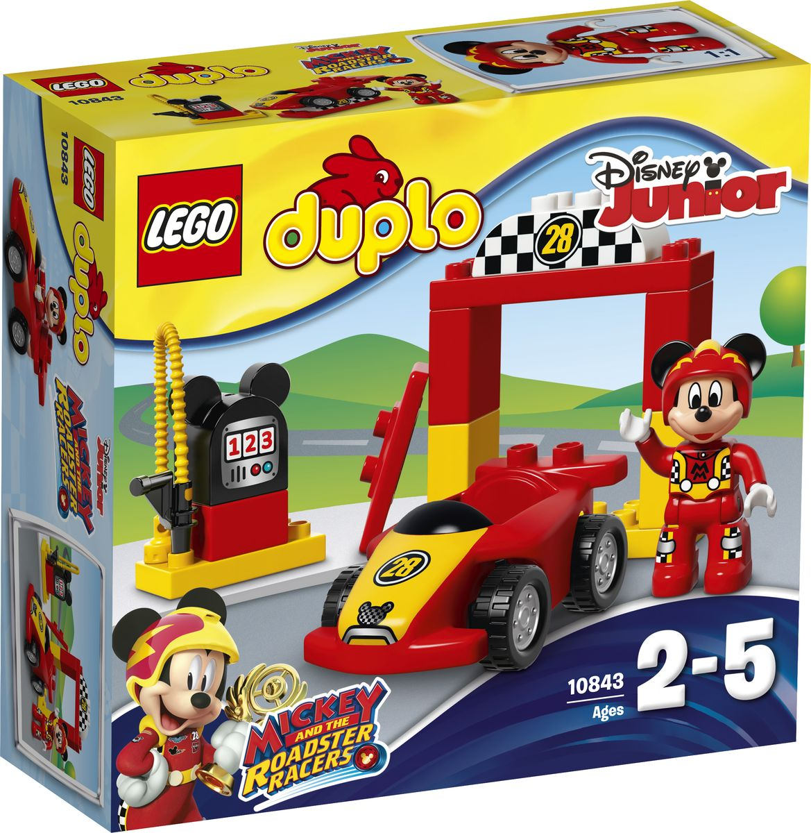 LEGO DUPLO Disney Junior Конструктор Гоночная машина Микки 10843 конструкторы lego lego duplo disney tm магазинчик минни маус 10844