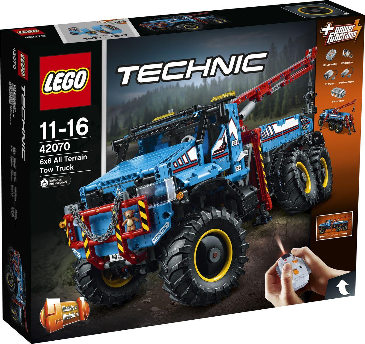 LEGO Technic Конструктор Аварийный внедорожник 6х6 42070 lego горный внедорожник 70589