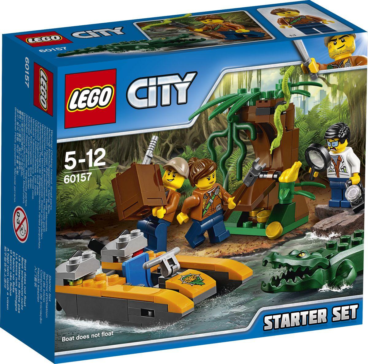 LEGO City Jungle Explorer Конструктор Набор Джунгли для начинающих 60157 конструкторы lego lego city jungle explorer база исследователей джунглей 60161