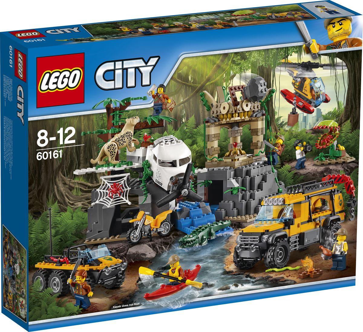 LEGO City Jungle Explorer Конструктор База исследователей джунглей 60161 конструкторы lego lego грузовой вертолёт исследователей джунглей city jungle explorer 60158
