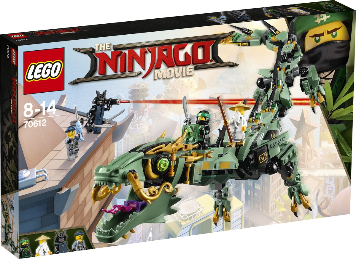 LEGO NINJAGO Конструктор Механический Дракон Зеленого Ниндзя 70612 lego lego ninjago 70612 лего ниндзяго механический дракон зелёного ниндзя