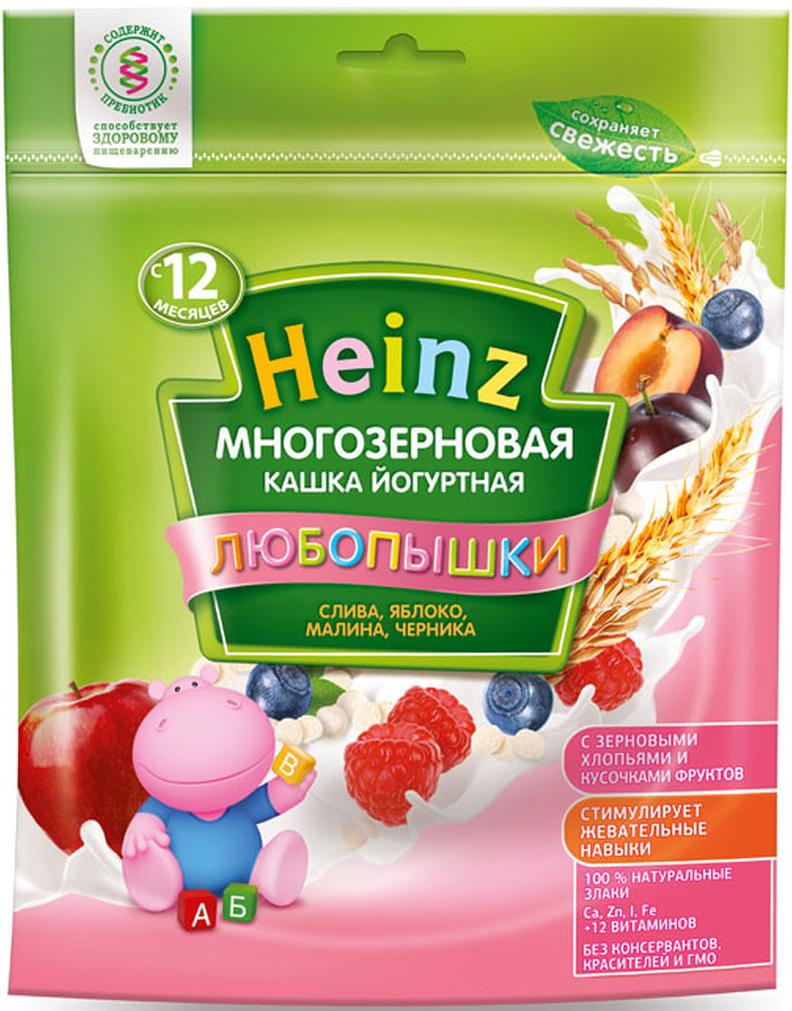 Heinz Любопышки каша многозерновая йогуртная, слива, яблоко, малина, черника, с 12 месяцев, 200 г starbucks frappuccino mocha молочный кофейный напиток 1 2