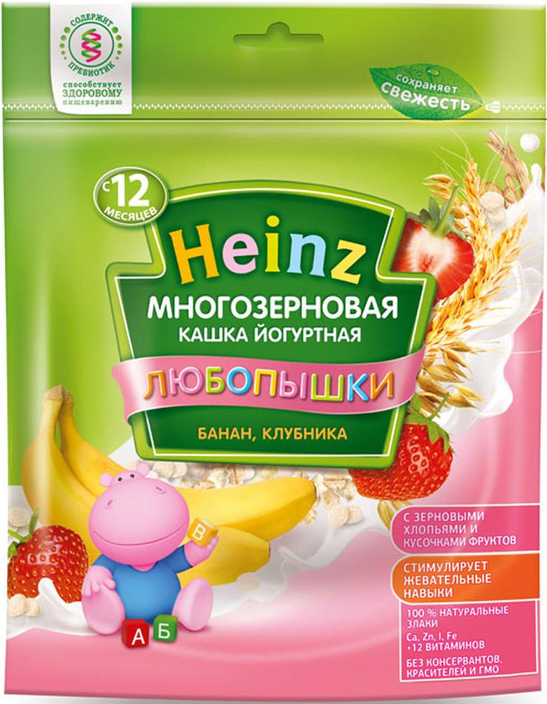 Heinz Любопышки каша многозерновая, йогуртная, банан, клубника, с 12 месяцев, 200 г конфитюр zuegg экстра абрикос 320г