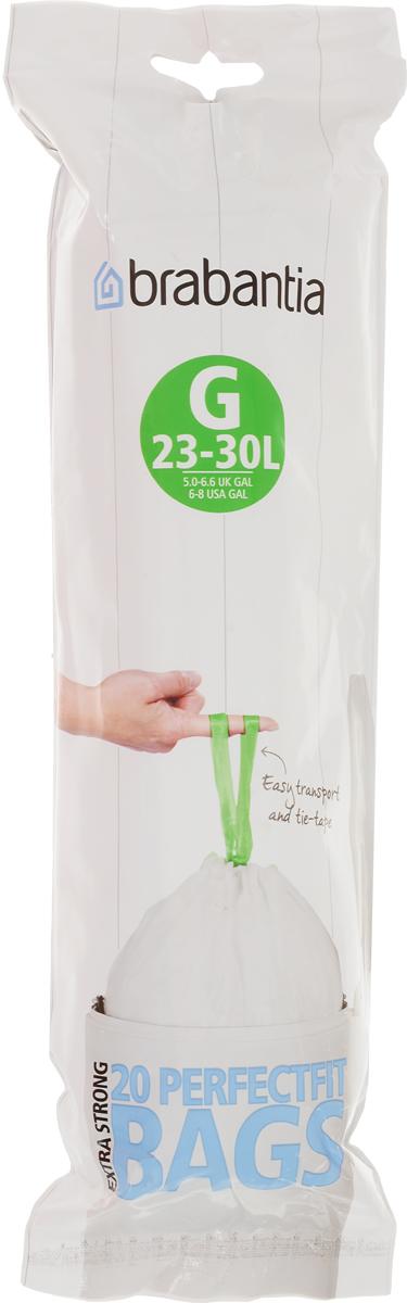 Мешки для мусора Brabantia, 23/30 л, 20 шт. 246265246265Удобно и быстро вкладываются и достаются из бака.Эстетичный вид – идеально подходят по размеру к мусорным бакам Brabantia, мешок не выступает наружу.Уникальная цветовая маркировка позволяет выбрать мешки нужного размера.Вентиляционные отверстия для удобства вкладывания в бак.Изготовлены из особо прочного полиэтилена (HDPE).Легко затягиваются и переносятся – специальная лента для стягивания горловины.Упаковка: 20 мешков в рулоне.