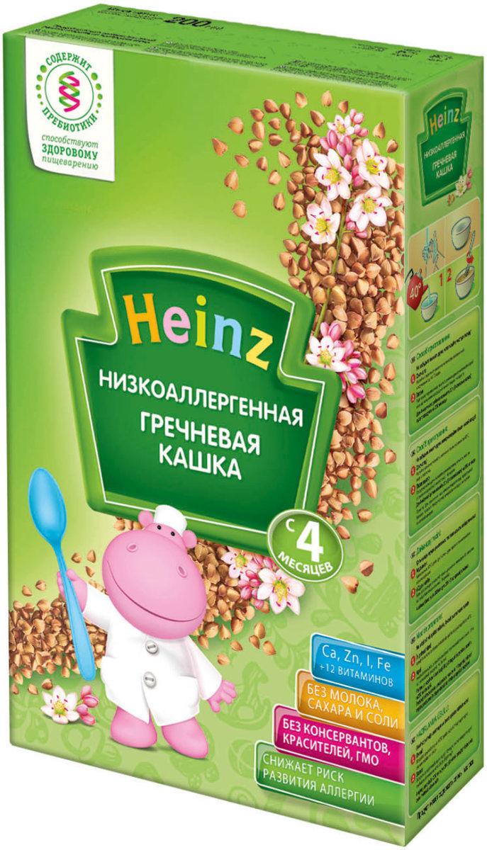 Heinz каша гречневая низкоаллергенная, с 4 месяцев, 200 г пюре heinz кабачки с 4 мес 2х80 г