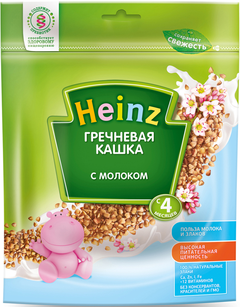 Heinz каша гречневая с молоком, с 4 месяцев, 250 г