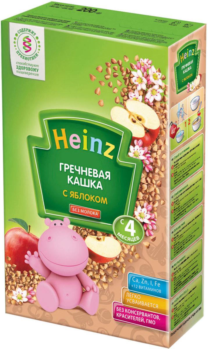 Heinz каша гречневая с яблоком, с 4 месяцев, 200 г heinz гречневая с яблоком хайнц heinz