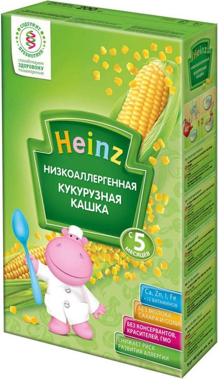 Heinz каша кукурузная низкоаллергенная, с 5 месяцев, 200 г