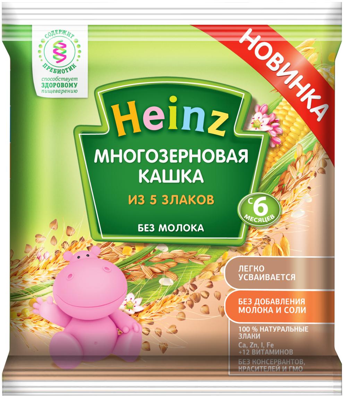 Heinz каша многозерновая из пяти злаков сашет, с 6 месяцев, 30 г76007043Для 6-месячного ребёнка возьмите 30 г (4 столовых ложек) сухого продукта на 170 мл воды. Налейте указанное количество вскипячённой и остуженной до 40°С воды в тарелочку. Тщательно перемешивая, всыпьте рекомендуемое количество сухой каши до получения однородной консистенции. Не варите.Продукт содержит глютен и может содержать незначительное количество молока.