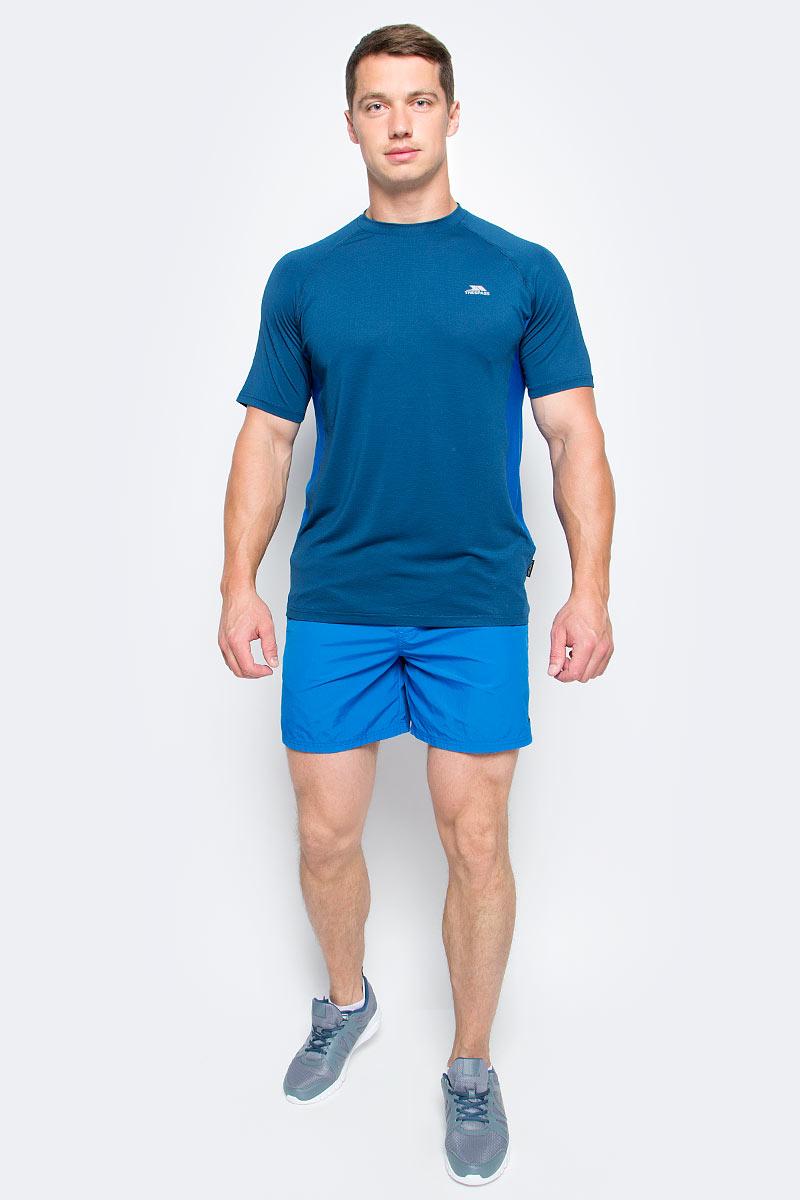 Шорты мужские Trespass Baki, цвет: голубой. MABTSHM10003. Размер L (52)MABTSHM10003Мужские шорты Trespass Baki выполнены из полиамида, подходят для фитнеса и бега. Широкий пояс дополнен эластичной резинкой. Снизу изделие оформлено логотипом бренда.