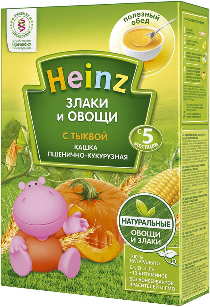 Heinz каша пшенично-кукурузная с тыквой, с 5 месяцев, 200 г сибирская клетчатка mу body slim фитококтейль имбирь и корица 170 г