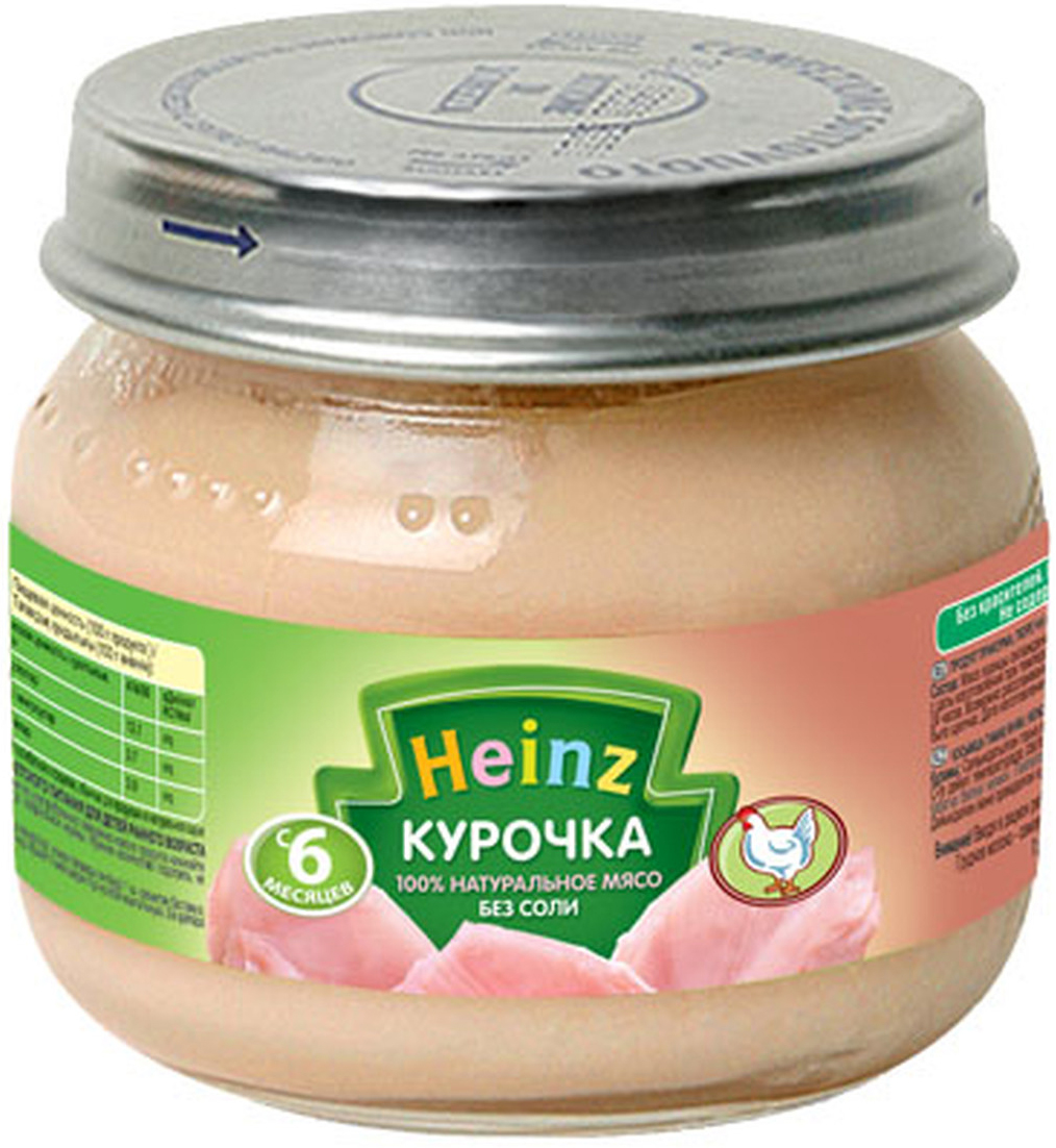 Heinz пюре курочка, с 6 месяцев, 80 г пюре heinz цыпленок с телятинкой с 6 мес 80 г