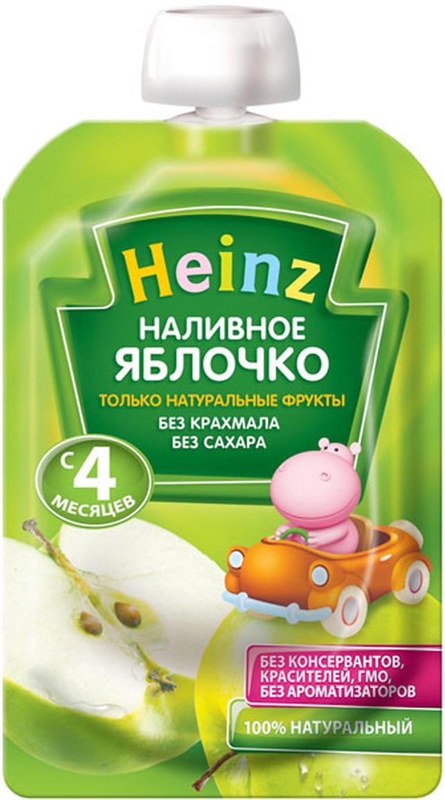 Heinz пюре наливное яблочко, с 4 месяцев, 100 г пауч76003493Продукт готов к употреблению. Откройте крышку и кормите с ложечки. Более взрослые дети могут употреблять продукт непосредственно из упаковки. Если продукт необходимо разогреть, поместите упаковку в теплую воду. Не разогревать в микроволновой печи.