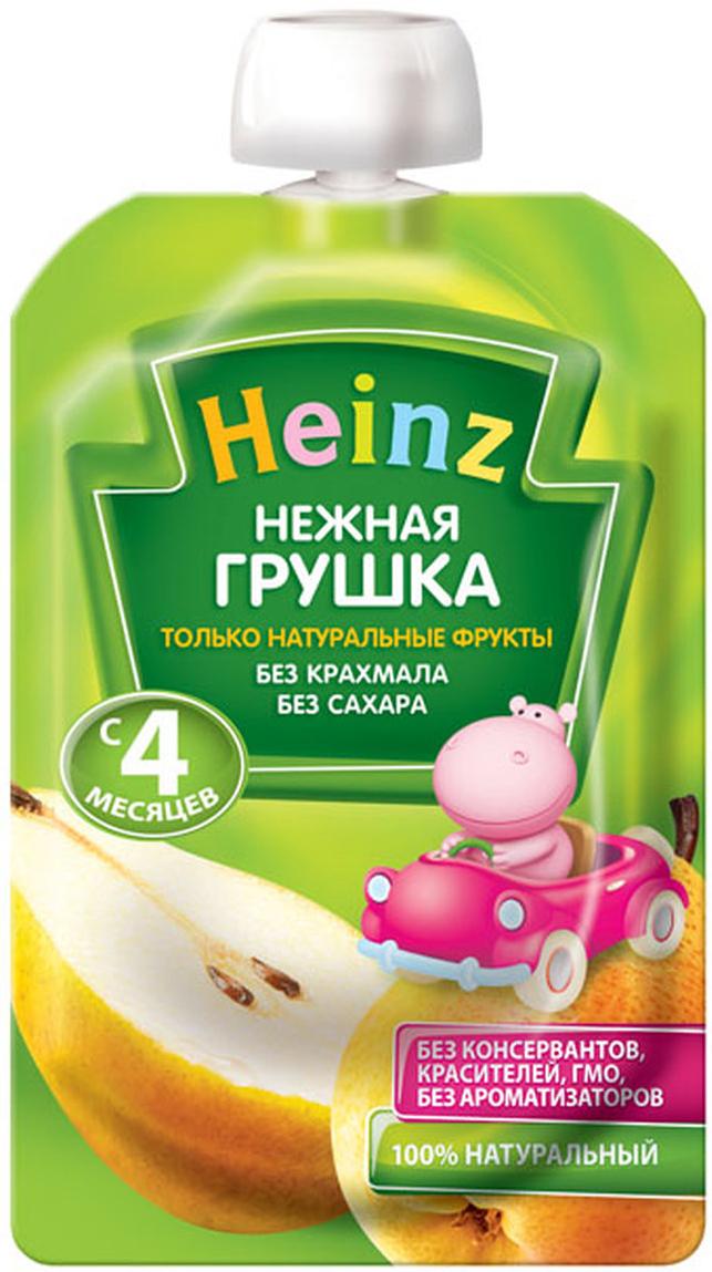 Heinz пюре нежная грушка, с 4 месяцев, 100 г (пауч) heinz нежная грушка пюре с 4 мес