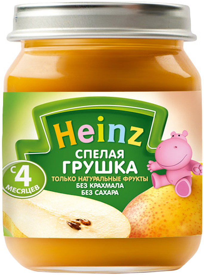 Heinzпюре спелая грушка, с 4 месяцев, 120 г Heinz