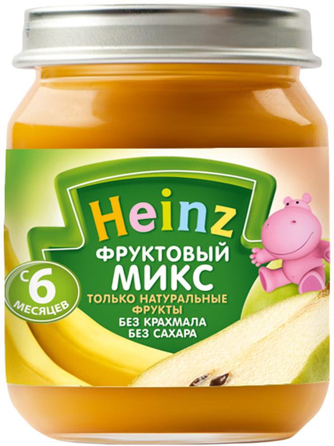 Heinz пюре фруктовый микс, с 6 месяцев, 120 г70144400Продукт готов к употреблению. Нужное количество подогреть, не добавляя сахара. Не разогревать повторно