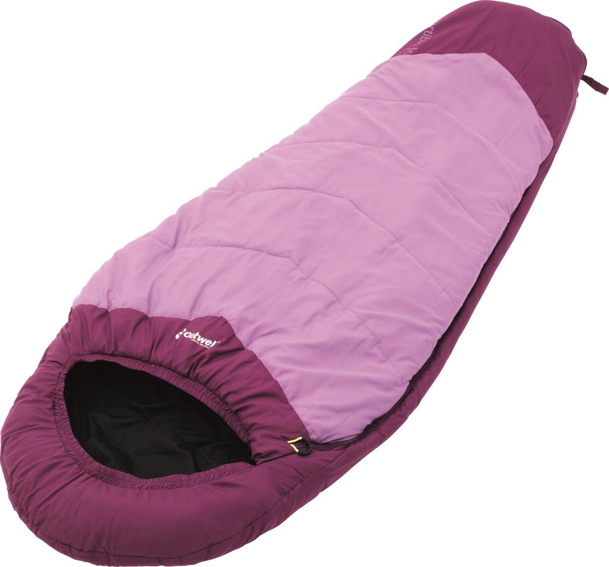 Спальный мешок Outwell Convertible Junior Magenta, кокон, цвет: розовый, малиновый230152Спальный мешок Outwell Convertible Junior Magenta имеет уникальную коническую форму. Практичные родители, несомненно, оценят его по достоинству. Спальник можно увеличивать в длину от 140 до 170 см, что делает его несомненным фаворитом в течение долгого времени. Конструкция Convertible Junior выполнена таким образом, чтобы дети легко справлялись со своими мешками сами.Особенности:Возможность регулировки длины по мере роста ребенка.Комфортный капюшон, чтобы держать голову и шею в тепле.Уникальная коническая форма, с дополнительным пространством для ног.Защита молнии для тепла на полную длину.Внутренний карман для небольших вещей.Компрессионный мешок.Защита от заедания молнии.